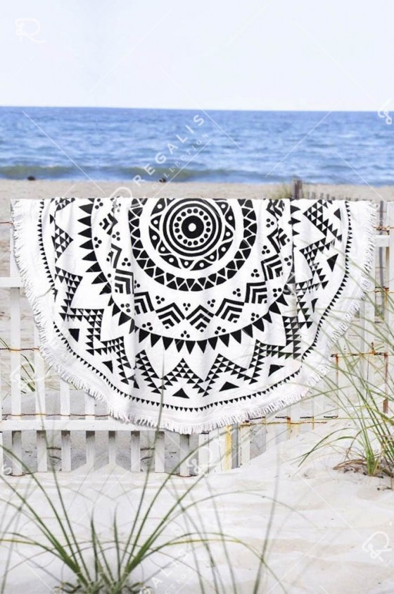 Navajo Round Beach Towel (18)