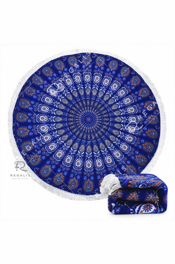 Peacock Round Beach Blanket