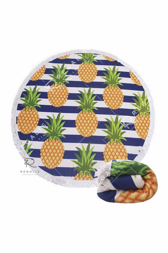 Pineapple Round Beach Blanket